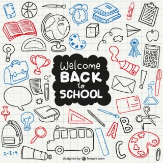 Welcome Back to School Icons Free Vector