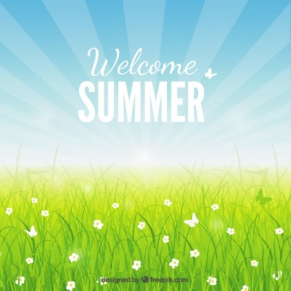 Welcome Summer Background Free Vector