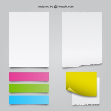 White and Color Paper Textures Free Vector