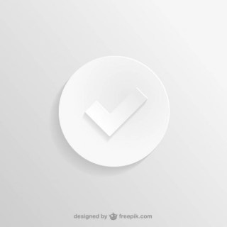 White Check Icon Free Vector