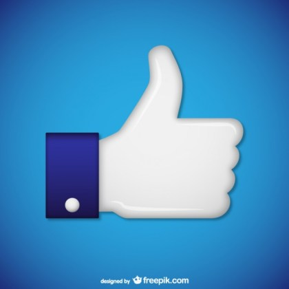 White Hand with Thumb Up Free Vector