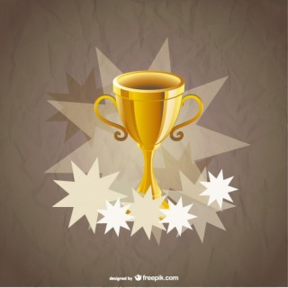 Winner Gold Cup Background Free Vector