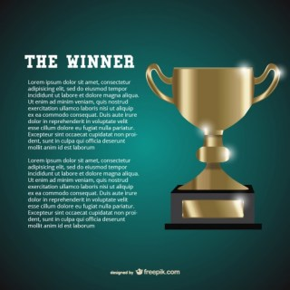 Winner Template Free Vector