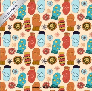 Winter and Christmas Pattern Free Vector