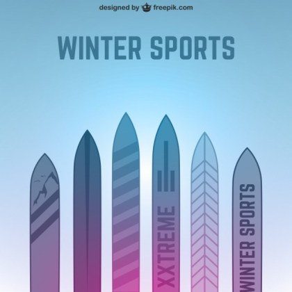 Winter Sports Background Free Vector