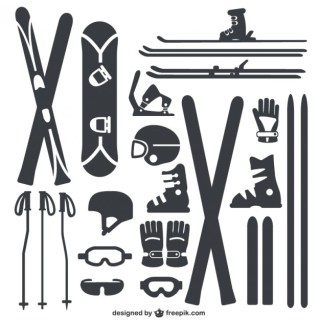 Winter Sports Equipment Pack Free Vector