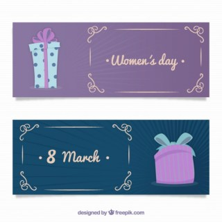 Womens Day Banners Free Vector