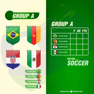World Cup Groupe Teams Template Free Vector