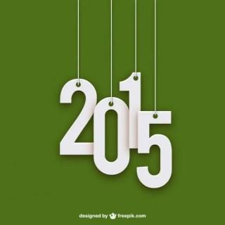 2015 Minimalist Free Vector