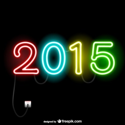 2015 Neon Lights Free Vector