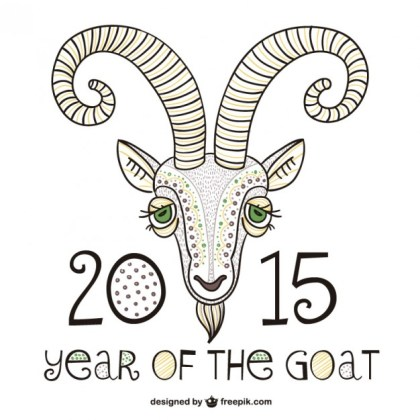2015 Year of The Goat Free Vector