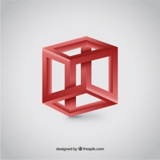3D Cube Logo Free Vector