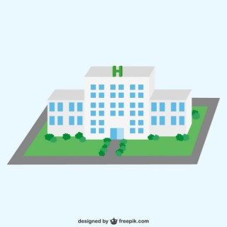 3D Hospital Free Vector