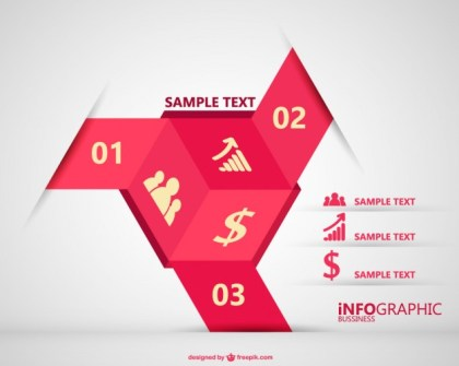 3D Infographic Free Vector
