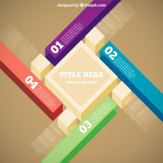3D Infography Elements Free Vector