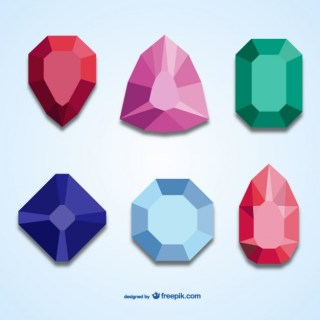 3D Jewels Pack Free Vector