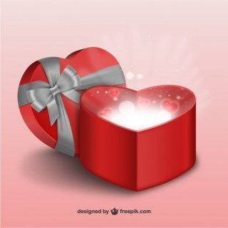 3D Valentines Gift Free Vector