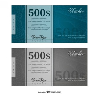 500 Dollars Voucher Template Free Vector