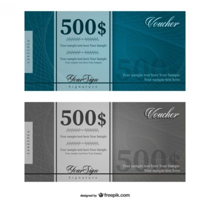 500 Dollars Voucher Template Free Vector