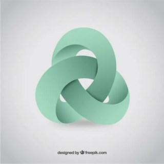 Abstract 3D Logo Free Vector