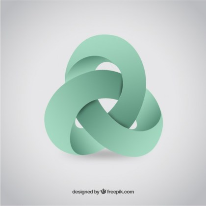 Abstract 3D Logo Free Vector