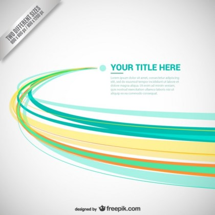 Abstract Background with Color Lines Free Vector