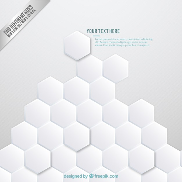 Abstract Background with Hexagons Free Vector
