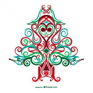 Abstract Christmas Tree Free Vector