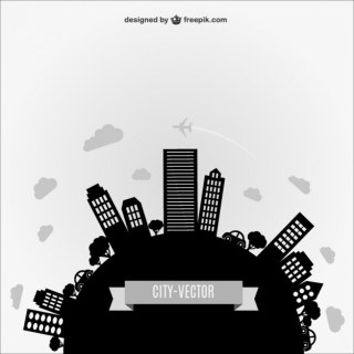 Abstract City Silhouette Free Vector