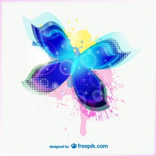 Abstract Colorful Butterfly Free Vector