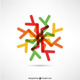 Abstract Colorful Logo Free Vector