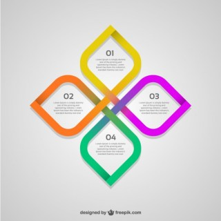 Abstract Flower Infographic Free Vector
