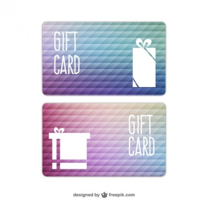 Abstract Gift Card Free Vector