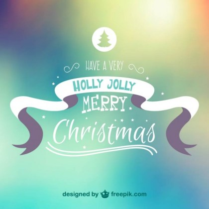 Abstract Merry Christmas Background Free Vector