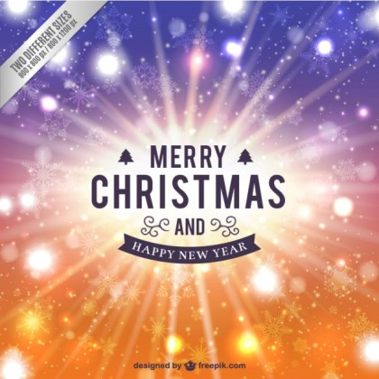 Abstract Merry Christmas Card Free Vector