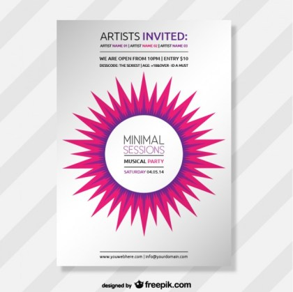 Abstract Minimal Party Poster Free Vector