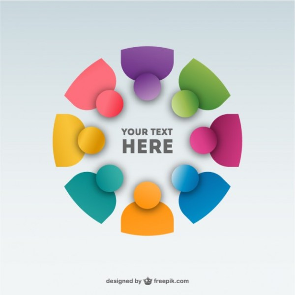 Abstract People Team Background Design Free Vector