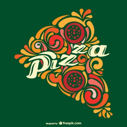 Abstract Pizza Slice Free Vector
