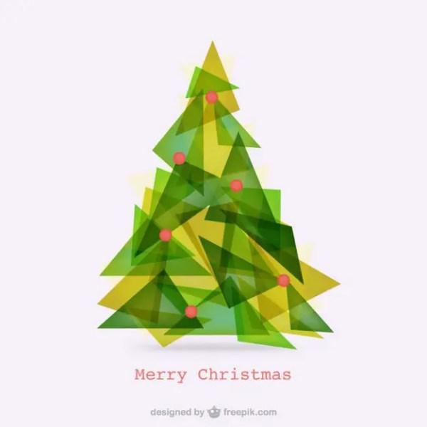 Abstract Polygonal Christmas Tree Free Vector