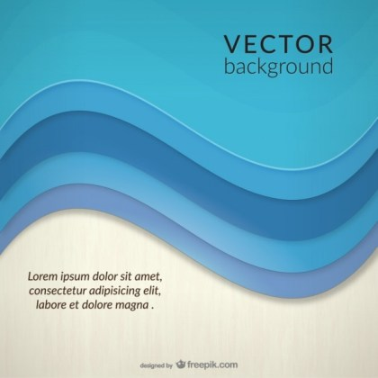 Abstract Sea Wave Background Template Free Vector