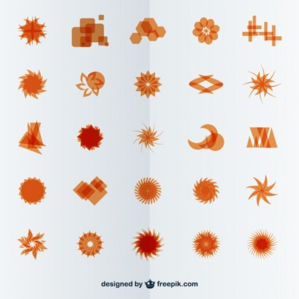 Abstract Symbols Free Vector