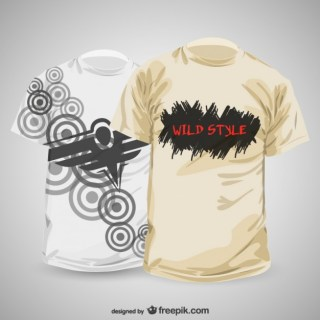 Abstract T-Shirt Design Template Free Vector
