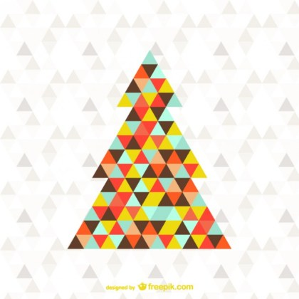 Abstract Triangle Christmas Tree Free Vector