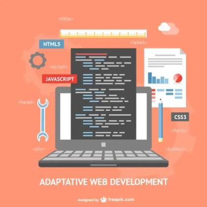 Adaptative Web Development Free Vector