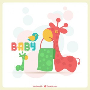 Adorable Baby Card Free Vector