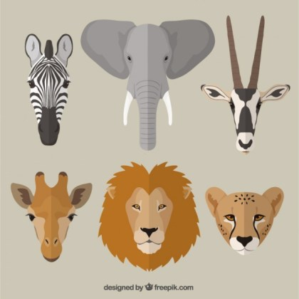 African Animals Free Vector