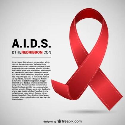 Aids Ribbon Free Vector