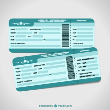 Airplane Tickets Holiday Free Vector