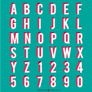 Alphabet and Numbers Free Vector