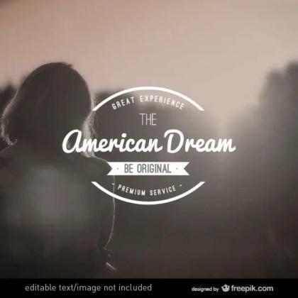 American Dream Vintage Logo Free Vector